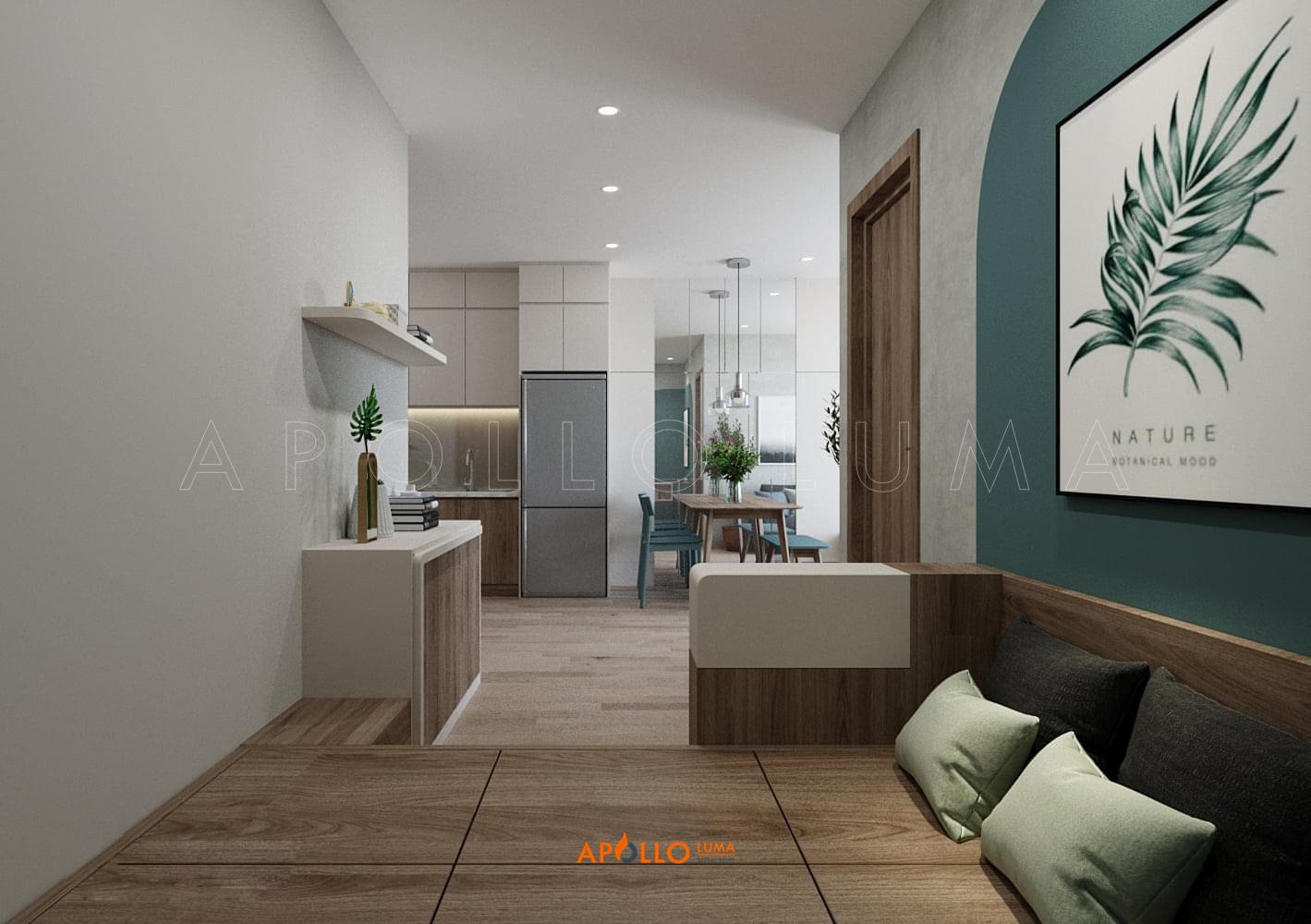 Thiết kế nội thất căn hộ 1PN + 1 Imperia Smart Citty Tây Mỗ