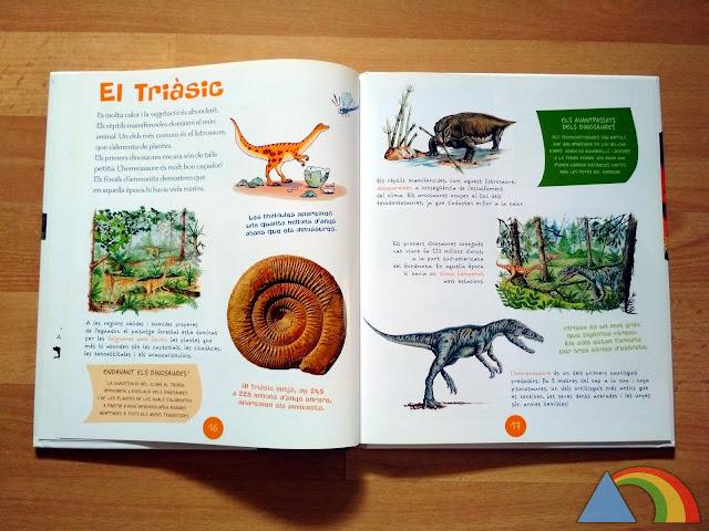 Interior del libro Los dinosaurios de editorial SM