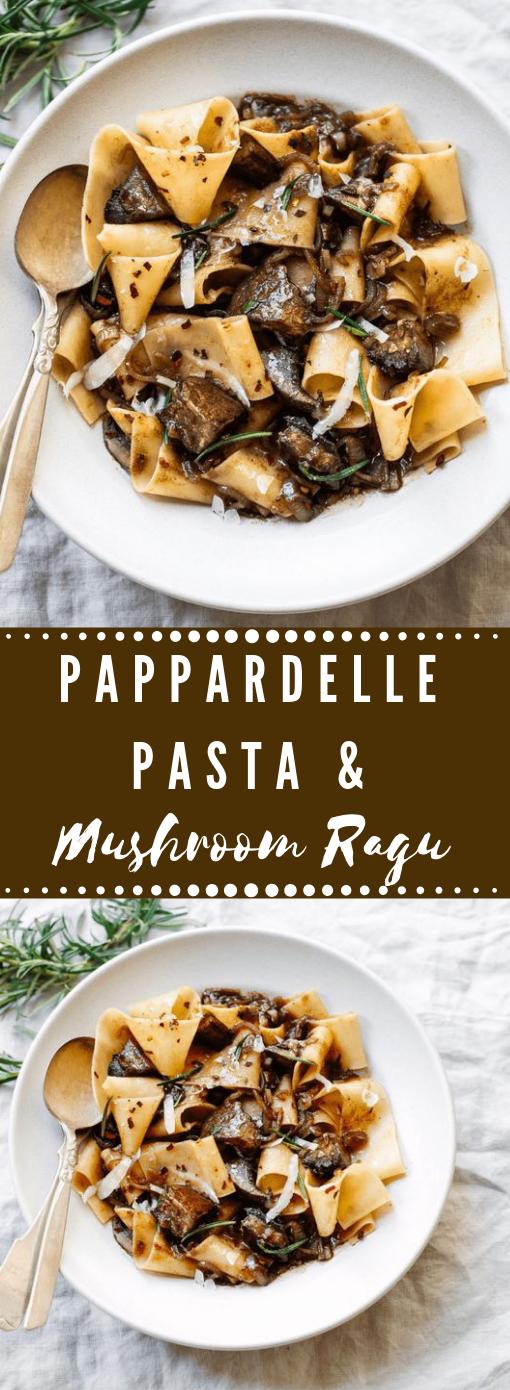 PAPPARDELLE PASTA WITH PORTOBELLO MUSHROOM RAGU #mushroom #pasta #spagheti #vegan #vegetarian