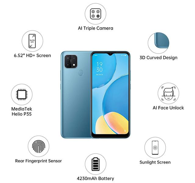 ओप्पो का नया स्मार्टफोन Oppo A15 हुआ लॉन्च जाने स्पेसिफिकेशन
