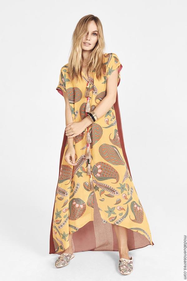 Vestidos largos primavera verano 2019. Moda 2019 vestidos.