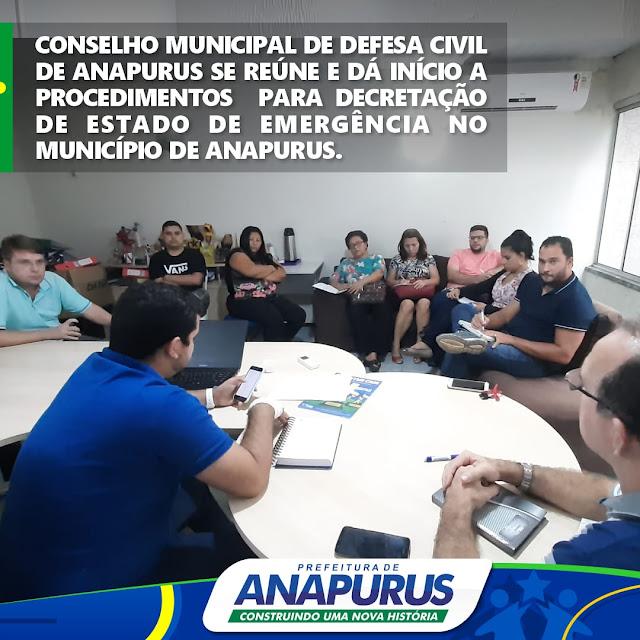 Por conta das fortes chuvas Conselho de Defesa Civil de Anapurus inicia procedimentos para decretar estado de emergência no município