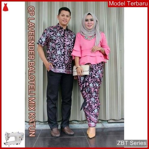 ZBT03209 Kebaya Batik Couple Lonceng Lavender Dewasa BMGShop