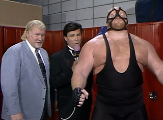WCW Great American Bash 1992 - Eric Bischoff interviews Harley Race & Big Van Vader