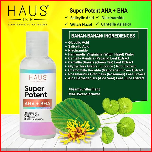 Kandungan Super Potent AHA + BHA Exfoliating Lotion