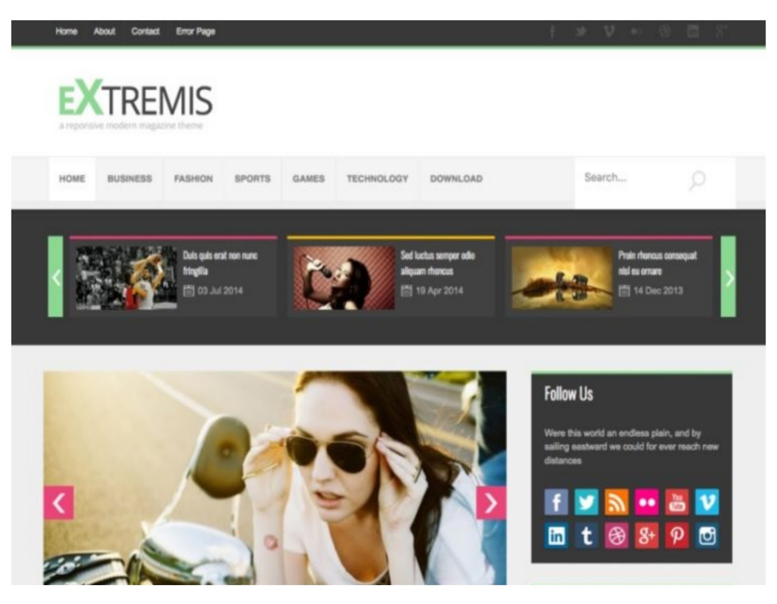 Extremis Blogspot Template