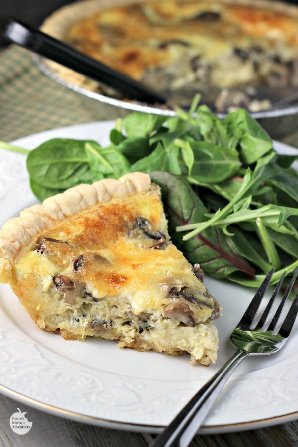 Mushroom swiss quiche renee 39 s kitchen adventures for Renee s kitchen