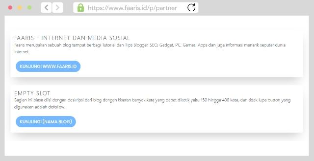 Contoh Halaman Partner Blog