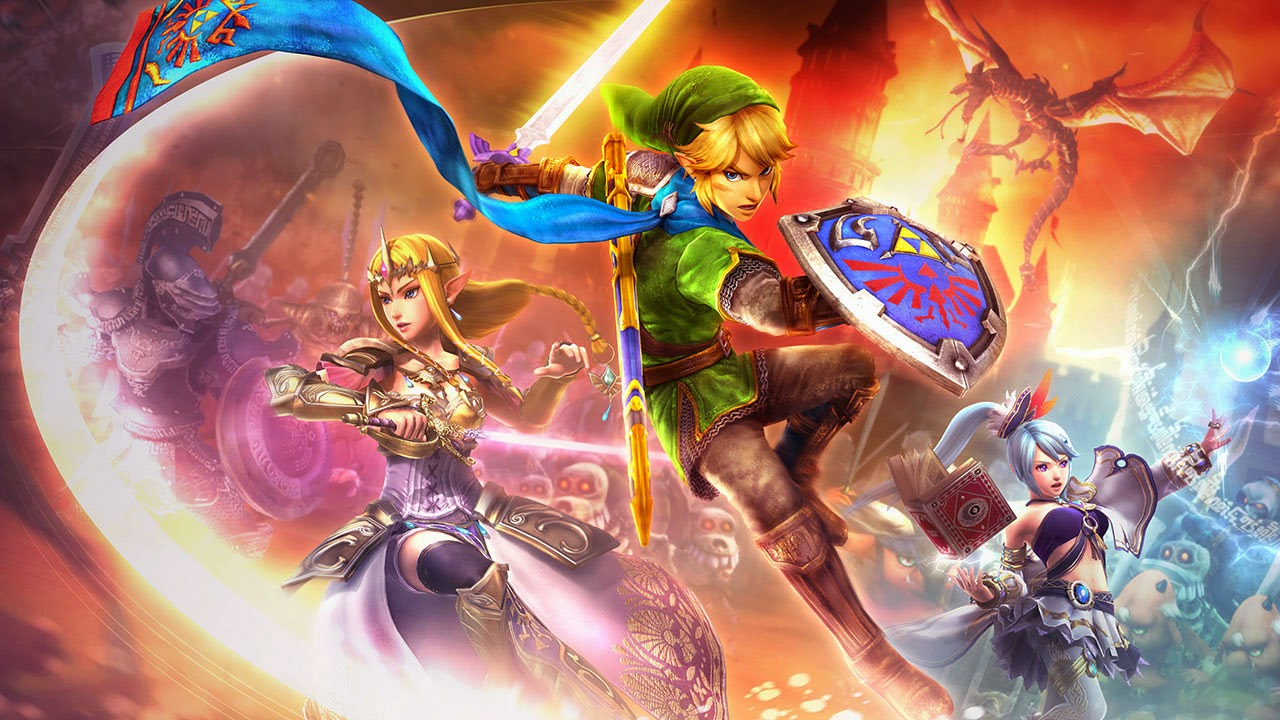Link Zelda Lana battling monsters screenshot