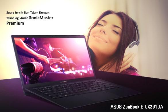Audio SonicMaster Zenbook S UX391UA Terintegrasi Harman Kardon