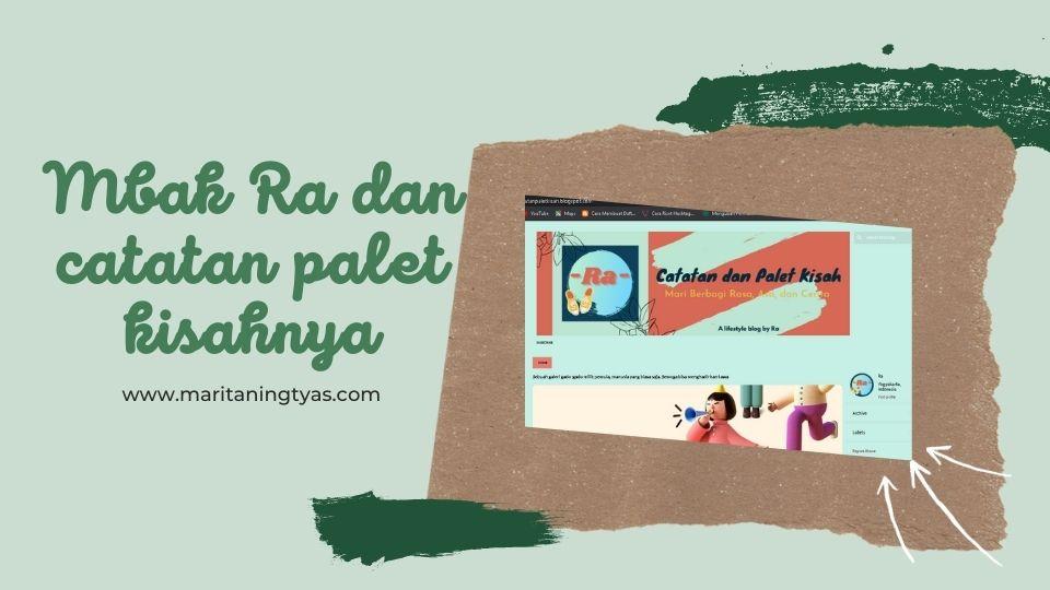 catatan dan  palet kisah blog daffara
