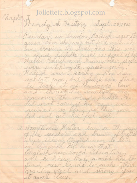 Wendy Slade history assignment example of cursive http://jollettetc.blogspot.com