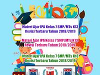 Materi Ajar IPA Kelas 7 SMP/MTs K13 Revisi Terbaru Tahun 2018/2019