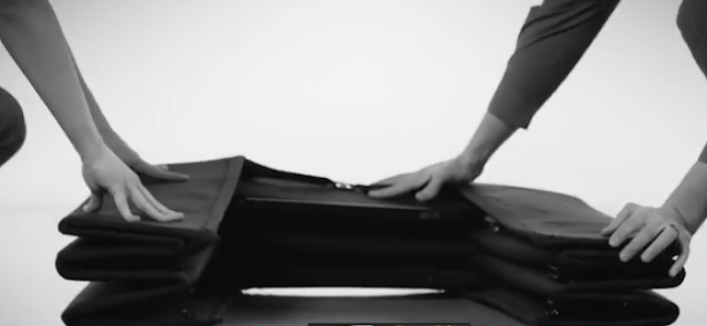 12 layers of kevlar in bullet proof origami shield