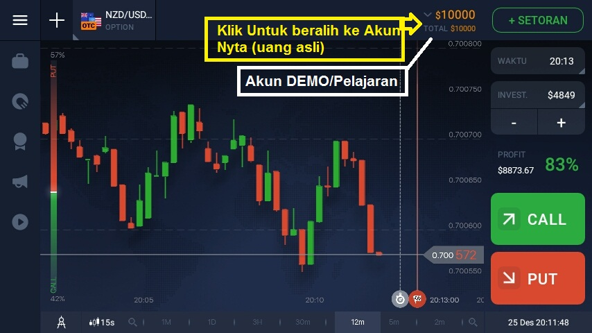 cara bermain iq option di hp