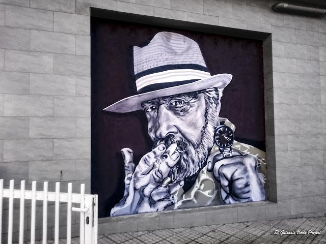Mural 'Reloj 420' - Bilbao, por El Guisante Verde Project