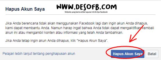 tutup akun fb permanen, menonaktifkan akun fb, cara menutup akun facebook, cara menonaktifkan akun facebook, cara mendelete akun facebook
