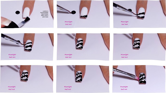 Black & White Drag marble Nail Design Tutorial