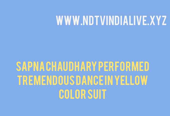 Sapna Chaudhary performed tremendous dance in yellow color suit