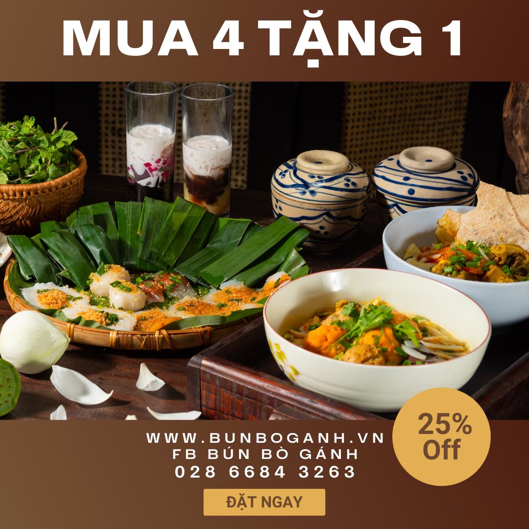 Khuyến Mãi Mua 4 Món Tặng 1 Món Tại Website bunboganh.vn Tháng 7/2021