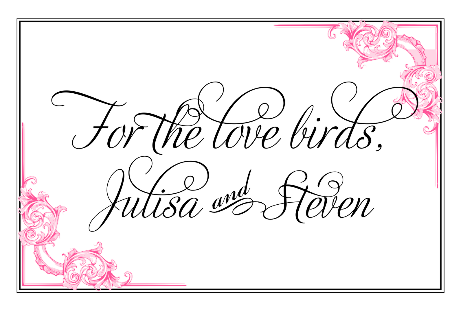 Wedding reserved signs template pictures to pin on for Reserved seating signs template