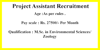 Project Assistant Recruitment - Government of  Rajasthan