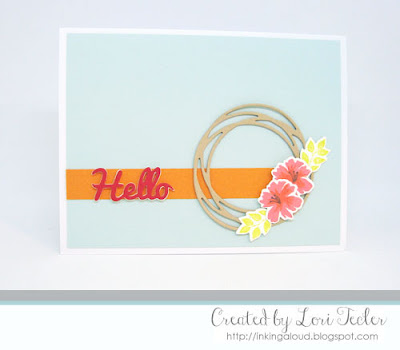Hibiscus Hello card-designed by Lori Tecler/Inking Aloud-stamps from SugarPea Designs