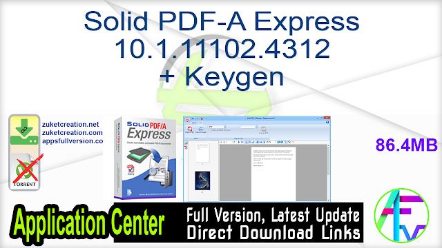 Solid PDF-A Express 10.1.11102.4312 + Keygen