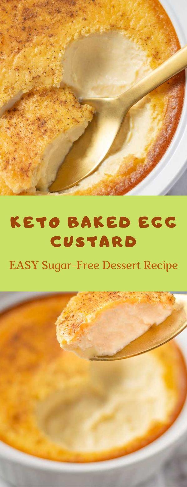 Keto Baked Egg Custard - EASY Sugar-Free Dessert Recipe