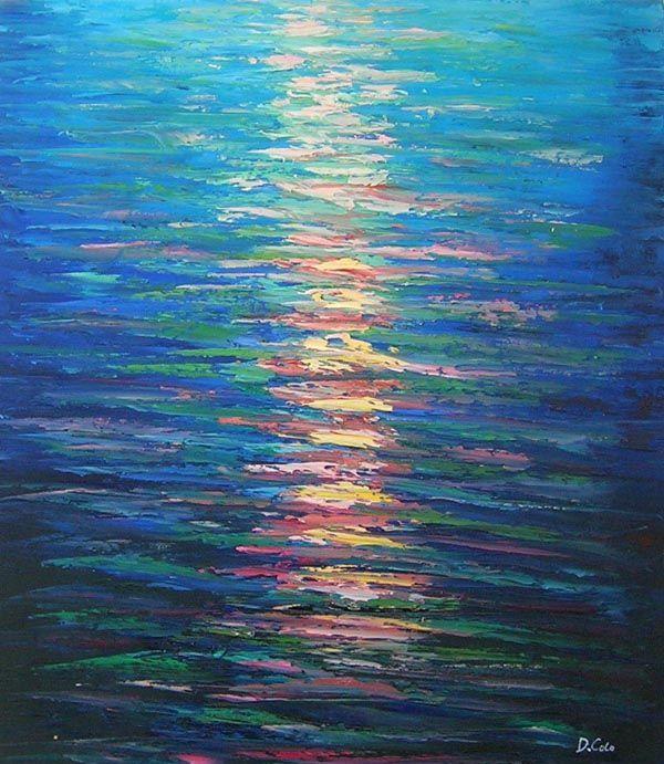 Super L'Arte accessibile:Arredare con i Dipinti a Olio: Il Mare sulle  LY24