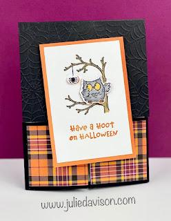 Stampin' Up! Have a Hoot Dutch Door Card ~ August-December 2020 Mini Catalog ~ www.juliedavison.com