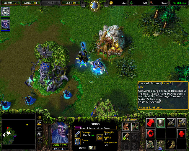 The Druids Arise Mission 31 | Furion Hero Screenshot | Warcraft 3: Reign of Chaos
