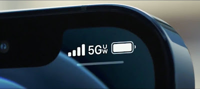 5G signal 5 bars iphone