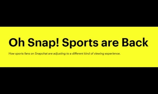 Snapchatters React to the Comeback of Sports