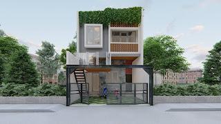 rumah minimalis dua lantai dengan balkon mezzanine (1)