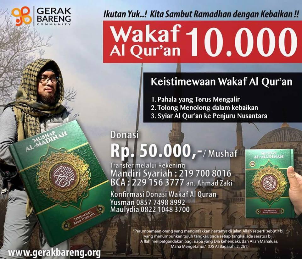 Wakaf 10.000 Al Qur'an