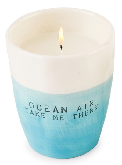 Coastal Beach Saying Quote Candle Holder