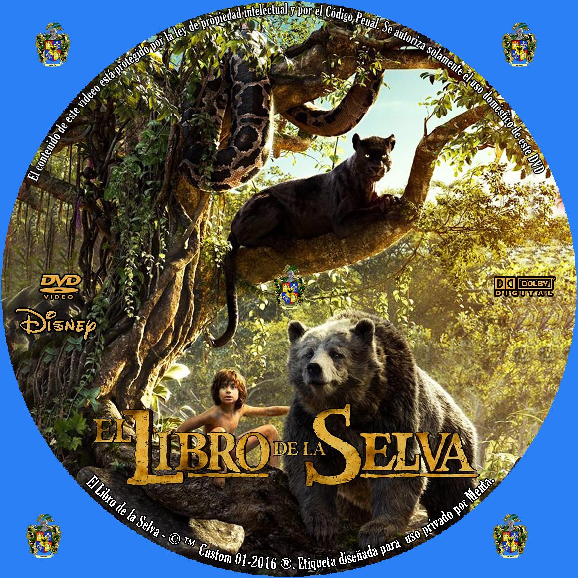 Caratulas y etiquetas: El libro de la Selva (The Jungle