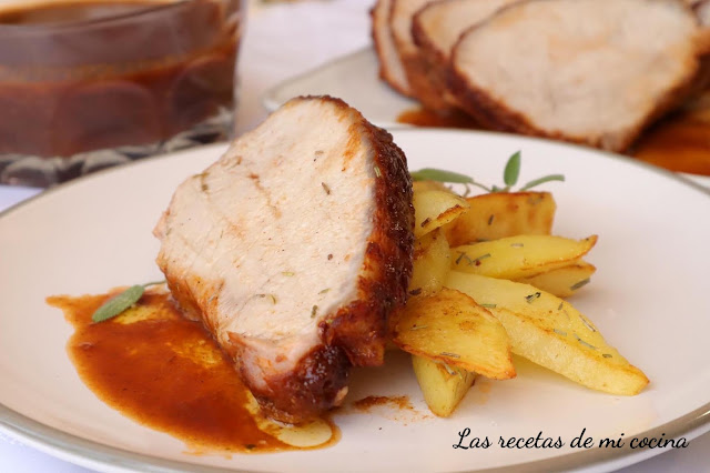 Lomo de cerdo al horno marinado