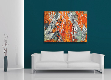orange, abstract, urban, industrial, art, contemporary, large, wall art, canvas art, canvas print, modern, Sam Freek, artist, abstract photography,