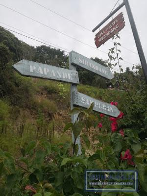 arah jalan di pulau sibandang atau pulau pardopur