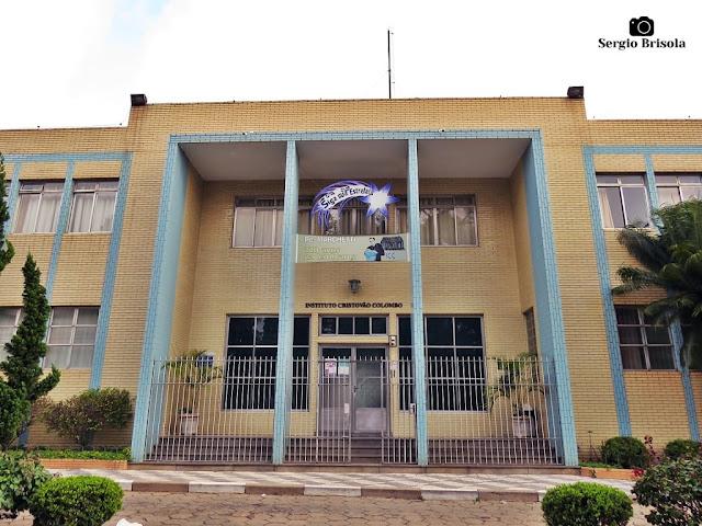 Vista da fachada do Instituto Cristóvão Colombo - Vila Dom Pedro I - São Paulo