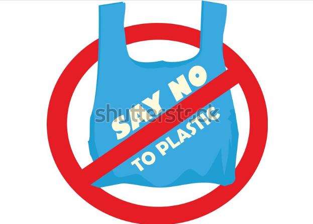 illustration vector anti - USE CAMPAIGN PLASTIC BAG