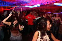 People dancing in a nightclub