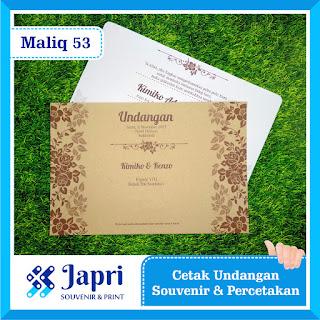 Cetak Undangan Pernikahan Amplop Blangko Maliq 53
