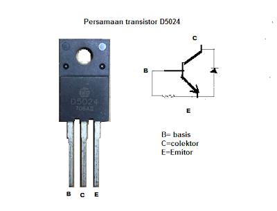 Persamaan Transistor Horizontal D5024