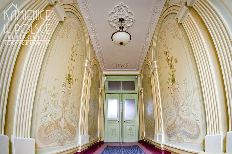 Olsztyn. Secesja. Kamienica. Architektura. Wnętrze. Malowidło.