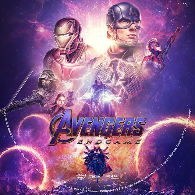 Avengers: Endgame Label Cover