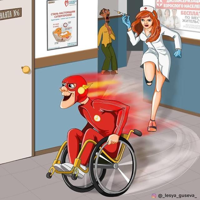 ilustrasi superhero masa tua