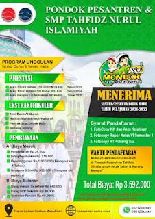 Contoh Pamflet PSB Pondok Pesantren